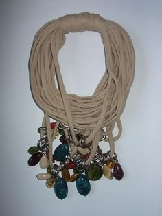 Stone Fabric Necklace