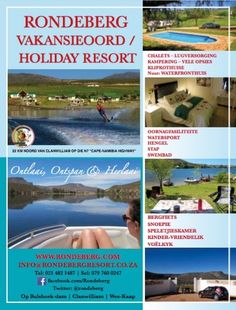 Rondeberg Holiday Resort, Bulshoek Dam, Clanwilliam, West Coast - Self-catering Accommodation, Camping & Caravan Park Holiday Resort, Berg, West Coast, Resorts, Places To Visit, Relax, Camping, Campsite, Vacation Places