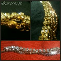 Bracelet stress pulseira dourada com strass de várias voltas by @kariconcah #semfiltro #pulseira