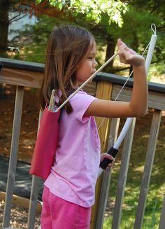 ikat bag: Archery Party - Quivers tutorial
