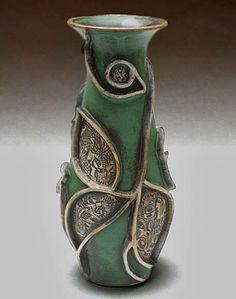 Joanne-Jaffe-cerámica-florero relieve alzado