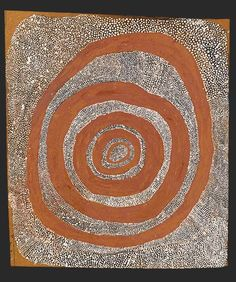 Yala Yala Gibbs Tjungurrayi, Snake and Water Dreaming, 1972, earth pigments and synthetic polymer paint on composition board, 56.5 x 49.9 cm.,  National Gallery of Victoria, Melbourne