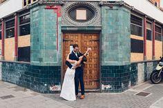 Dancing in the street – A relaxed pub wedding in Islington – Hannah & Pete (sneak peek) | Miss Gen Photography - London & Destination Wedding Photographer  #londonweddingphotographer #islingtonwedding #relaxedwedding #pubwedding #vintageweddingdress