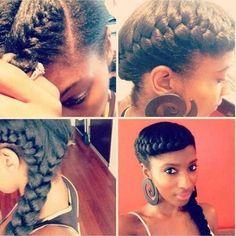 Very very cute side braid for long hair! :-) Perfectly adaptable with long sisterlocs! e8ddb2d44fa066d9d61fe091fb7f06da.jpg (500×500)