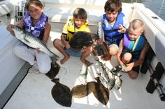 It's a mixed bag - and a full one - for these kids after a full day of fishing, on the Chesapeake Bay.