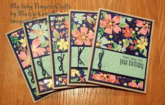 My Inky Fingers Crafts by Marcy Kowallis presents: Suite Sayings stamp and Affectionately Yours paper - Stampin' Up! products
