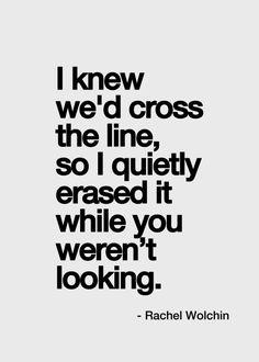 Crossed the line