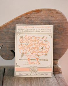 """Gorgeous typography and layout on this invitation by Lisa """"Ceci"""" Johnson"""