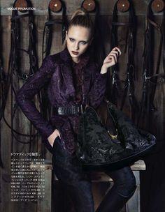modern icon: valeria smirnova by denise boomkens for vogue japan.