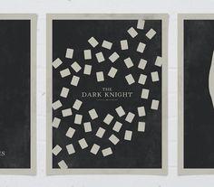 Dark knight trilogy minimalist posters