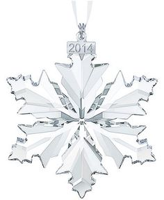 Buy Swarovski Christmas ornaments and home decor pieces at Macy's! Find a great selection of crystal ornaments and Christmas figurines from Swarovski. Swarovski Christmas Ornaments, Swarovski Snowflake, Crystal Snowflakes, Christmas Figurines, Snowflake Ornaments, Christmas Snowflakes, Christmas Star, Christmas 2014, Christmas Tree Ornaments