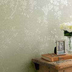 Spring Blossom Green Shimmer Wallpaper by Graham and Brown