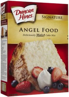 Duncan Hines Signature Cake Mix Angel Food 16 oz -- Details can be found by clicking on the image. (This is an affiliate link) Angel Food Cupcakes, Angel Food Cake, Mini Cupcakes, Duncan Hines, Types Of Cakes, Moist Cakes, Pound Cake, Cake Pans, Cupcake Recipes