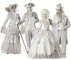Steampunk is the hottest style for Halloween and Cosplay costumes this year. Create a sensation with the best costumes and accessories to create your personal look in this trendy romantic style. Ghost Halloween Costume, Ghost Costumes, Theme Halloween, Family Costumes, Family Halloween, Cool Costumes, Adult Costumes, Costume Ideas, Halloween Makeup
