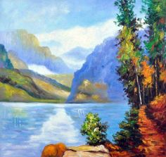 Potthast Reproduction: Lake Louise, British Columbia - Canvas Art & Reproduction Oil Paintings