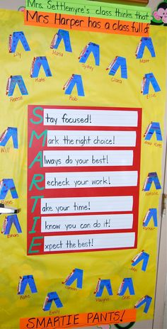 Door decoration for testing week to cheer my students on!