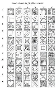 Pattern sheet for zentangle | :: Zentangle & Zendoodle Patterns :: by Keunsup Shin
