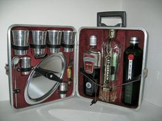 Going somewhere? #vintage #1950s Travelling BAR suitcase locks Jet Set by ObjectRetro, $38.00 #madmen
