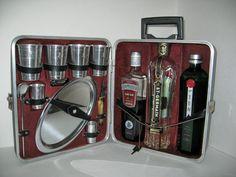 Going somewhere? #vintage #1950s Travelling BAR suitcase locks Jet Set by ObjectRetro, $38.00 #madmen