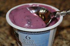 Blueberry Greek-style Coconut Milk Yogurt (soooo gooooood!)