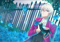 Melody of Blue Roses Mystic Messenger Characters, Mystic Messenger Fanart, Jumin X Mc, Mystic Messenger Unknown, Messenger Games, Saeran Choi, Jumin Han, Flower Boys, Blue Roses