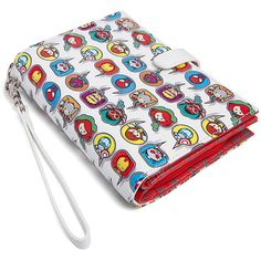Marvel Kawaii Wallet ($30) ❤ liked on Polyvore featuring bags, wallets, pocket wallet, white wallet, zipper bag, pocket bag and zip wallet