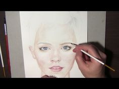 Watercolor portrait tutorial. How to, Steps and Tips. Emma Watson - YouTube