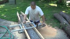 ALASKAN MKIII. Chainsaw Milling Attachment. Assembling and then Cutting ...