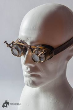 423817aeb7ca Magnifying Lenses Goggles - Post Apocalyptic Goggles - Victorian Goggles -  Cyberpunk Leather Goggles - Engineer Goggles - Fallout Eyewear