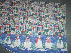 SNOWMAN  cotton fabric ..