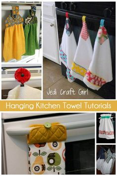 6 FREE Tutorials to Keep Your Kitchen Towels off the Floor - Peek-a-Boo Pages - Patterns, Fabric & More! 6 FREE Tutorials to Keep Your Kitchen Towels off the Floor - Trending Hand Towels for sales. Easy Sewing Projects, Quilting Projects, Sewing Hacks, Sewing Tutorials, Sewing Crafts, Free Tutorials, Sewing Patterns, Weaving Projects, Stitch Patterns