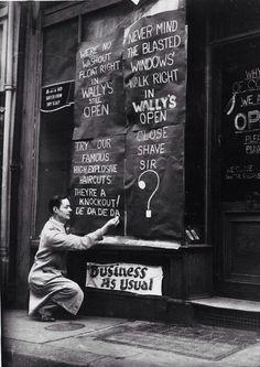 Wally's Barber Shop London 1944. http://ift.tt/2AGS7Hk