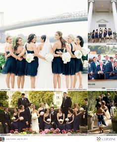 Navy + White Weddings