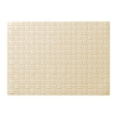 IKEA ORDENTLIG - Place mat, off-white - 45x32 cm Ikea http://www.amazon.co.uk/dp/B00GMM6D3I/ref=cm_sw_r_pi_dp_j9y1ub0TBBH37