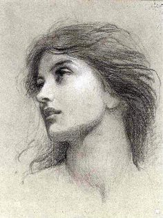 View Study for the head of the damsel in chivalry by Frank Dicksee on artnet. Browse upcoming and past auction lots by Frank Dicksee. Life Drawing, Figure Drawing, Drawing Sketches, Painting & Drawing, Art Drawings, Pencil Drawings, Pencil Portrait Drawing, Pencil Art, Frank Dicksee