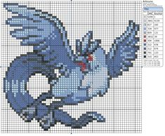 Birdie's Patterns – Birdie Stitching Pokemon Cross Stitch, Dragon Cross Stitch, Cross Stitching, Cross Stitch Embroidery, Cross Stitch Patterns, Pixel Art, Simple Cross Stitch, Easy Cross, Pokemon Craft