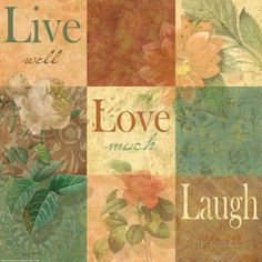 Shabby Chic Nine Patch: Live Laugh Love Poster by Grace Pullen - AllPosters.co.uk