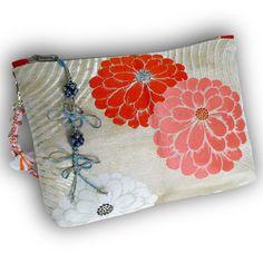 Japanese Vintage Kimono Obi 3-Way Crossbody Bag   by Kazuenxx
