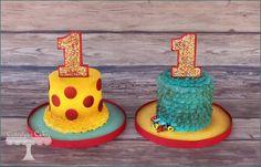 Cuteology Cakes Vintage circus smash cakes