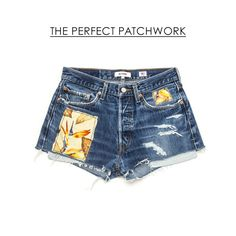 9 Of The Best Denim Cutoffs | The Perfect Patchwork Shorts