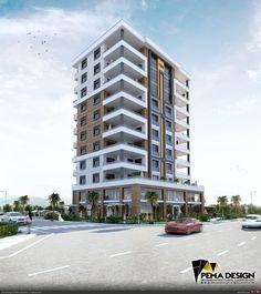 Residential Building Design, Architecture Building Design, Building Facade, Facade Design, Concept Architecture, Residential Architecture, Exterior Design, Architecture Drawings, Appartement Design