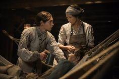 Claire aboard the British Navel ship, the Porpoise - Outlander_Starz Season 3 Voyager - Episode 310 Heaven & Earth - November 19th, 2017