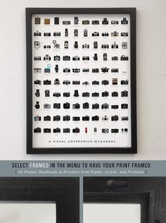 "Pop Chard Lab - A Visual Compendium of Cameras, 18"" x 24"", $27.00"