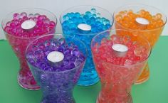 Crystal soil.  Good idea for centerpieces for fairy birthday party.