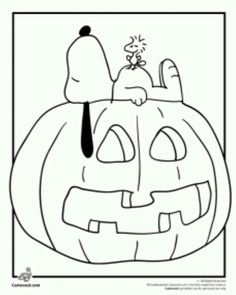 its the great pumpkin charlie brown coloring pages snoopy woodstock and a jack o lantern coloring page cartoon jr - Garfield Halloween Coloring Pages