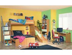 Dětský pokoj Miki P6 Originální a variabilní dětský pokoj Miki P6 české výroby s praktickým řešení úložného prostoru. Nábytek je vyroben z kvalitních eko dřevotřískových laminovaných desek (českého původu) v kombinaci síly 18 mm a … Loft, Bed, Furniture, Home Decor, Decoration Home, Stream Bed, Room Decor, Lofts, Home Furnishings