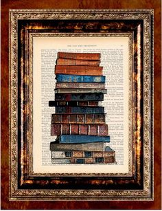 Vintage art + books