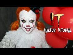 IT 'PENNYWISE' Halloween Makeup Tutorial !!! - YouTube