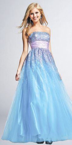 beautiful blue and lilac prom dress- 2005