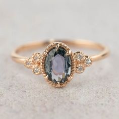 Unheated natural teal sapphire diamond ring, oval peacock sapphire engagement ring, rose gold, unique greenish blue sapphire ring wedding rings Your place to buy and sell all things handmade Alternative Engagement Rings, Vintage Engagement Rings, Oval Engagement, Sapphire Ring Engagement, Colored Engagement Rings, Affordable Engagement Rings, Gemstone Engagement Rings, Gemstone Rings, Nature Engagement Rings